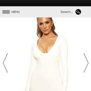 NAKED WARDROBE snatched bustier MINI dress